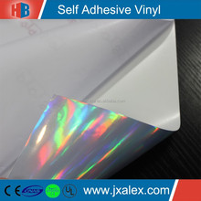 High Quality 190um PVC Holographic Car Vinyl Wrap Rolls Wholesale,Eco-solvent/0.914&1.07&1.27&1.37&1.52*50m