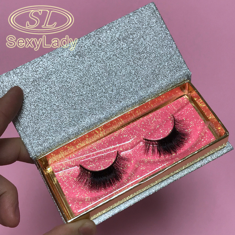 Competitive price nature thick private labeling lash case Natural Make up Tools Real 3d Mink Hair Eyelash strip Lashes Extension