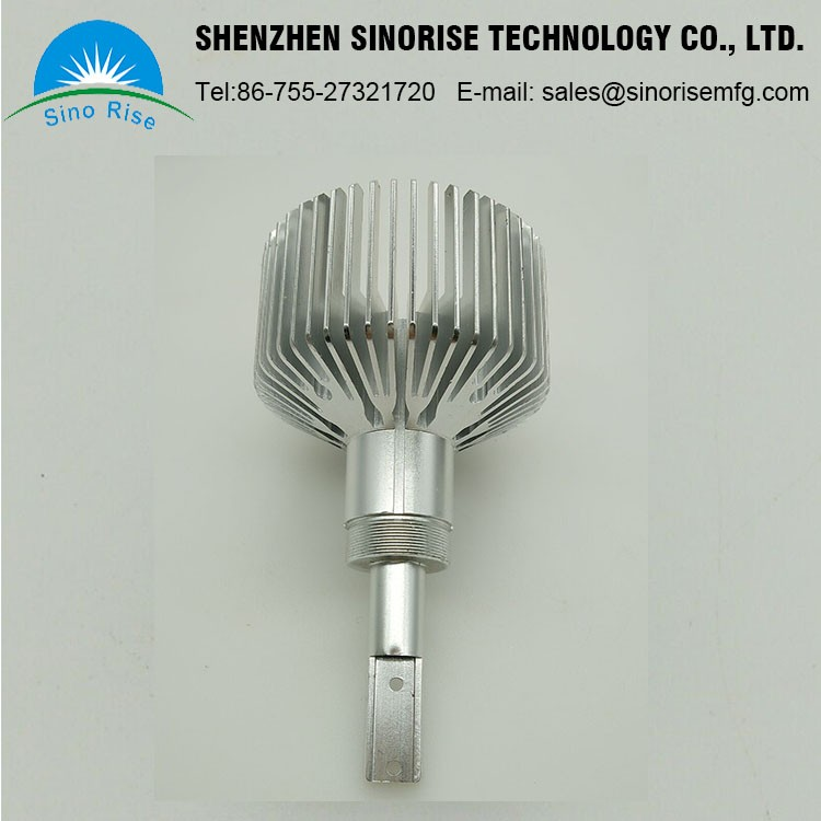 2017 Customized Precision Round Aluminum Extruded Heatsink For LED Light 10 Years Experience China Manufacturer OEM