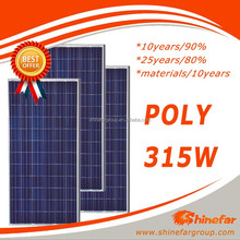 Popular poly315W chinese solar panels for sale PV power