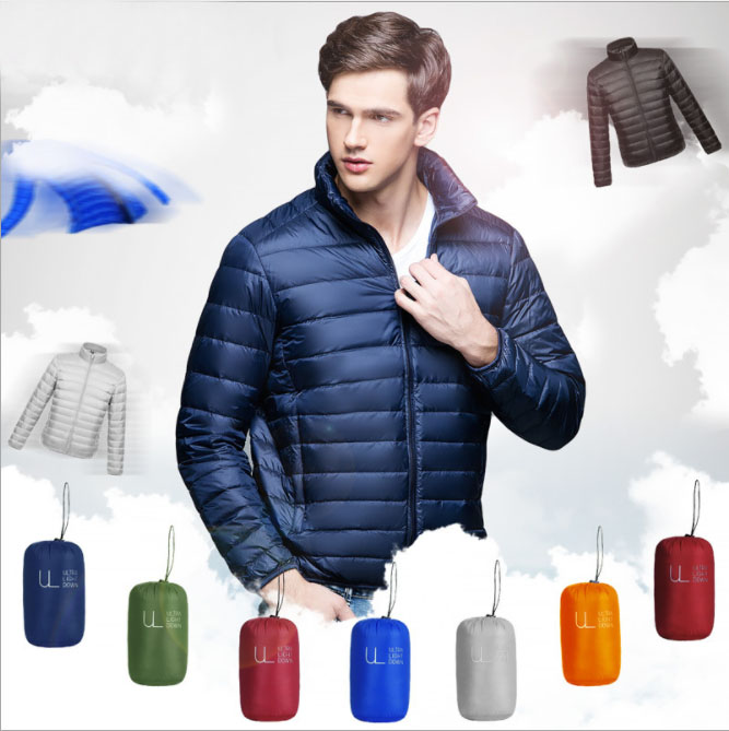 In stock wholesale Varsity woodland winter mens quilted down bomber flannel jacket