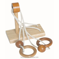Undoing Game-single pole String Disentanglement Brain Teaser adults wooden puzzle toy