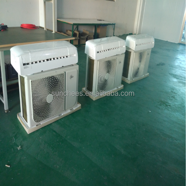 SunChees split solar airconditioner, 100% solar air conditioner, dc inverter air conditioning