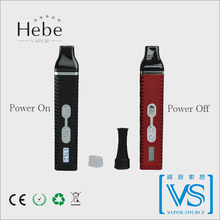 2015 newest dry herb vape pen , Hebe vapor ,authentic titan-2 direct inhale herbal vaporizer from original factory