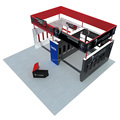 Detian Offer expo booth exhibition trade fair display modular exhibition systems