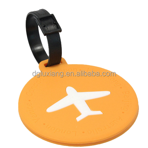 pvc custom aircraft luggage tag for decoration gifts