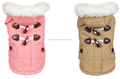 Wholesale new arrival first class horn Button warm coat for pet dogs ,fashion dogs winter coat