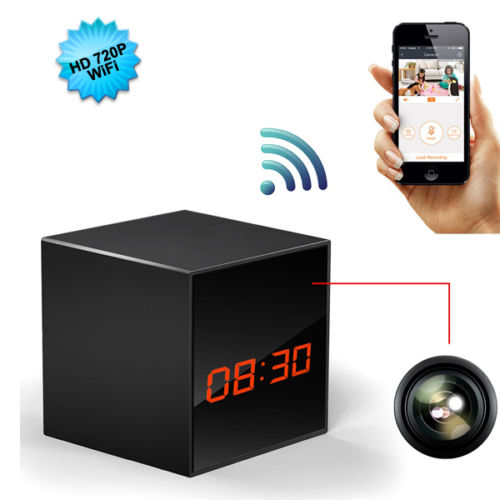 HD 720P Wireless Security Wifi Alarm Clock Hidden Camera P2P technique