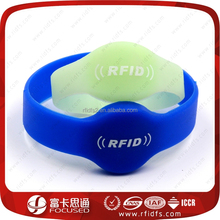 13.56Mhz adjustable silicone sport rfid silicone wristbands