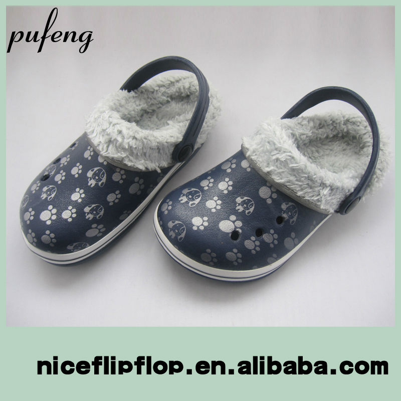 2014 new style comfortable warm winter EVA clogs
