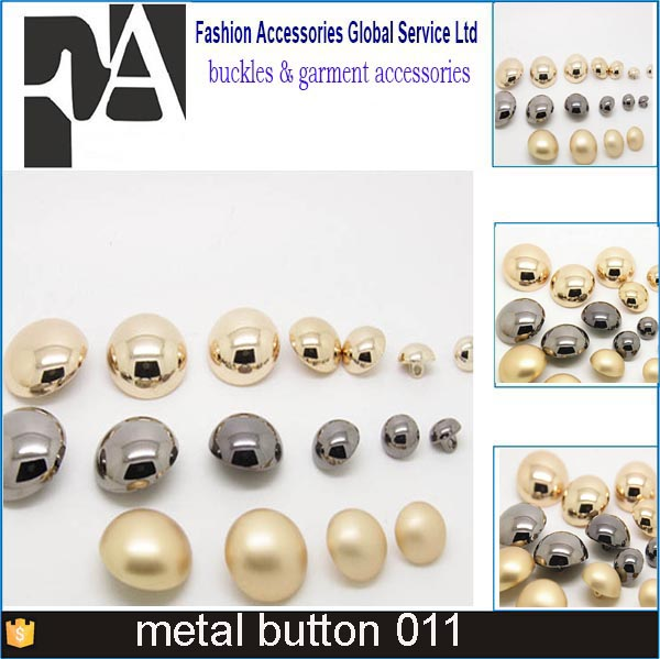 brass metal button plate half ball dome military clothes buttons