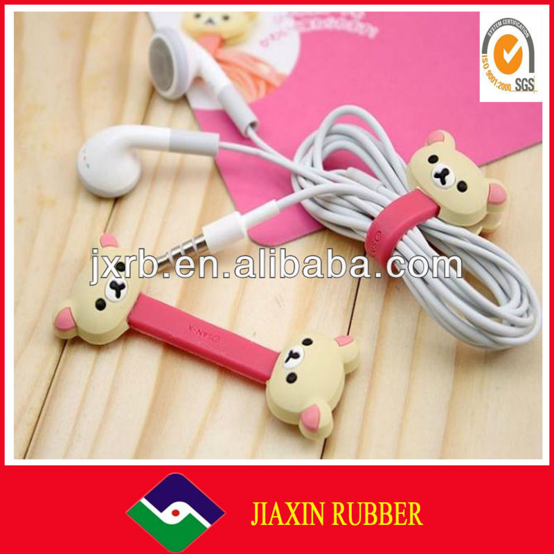 smart phone earphone with answer button and mic earphones headphones cable winder machine