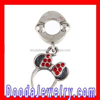 Latest Design Silver Crystal Dangle Bow Headband Charms