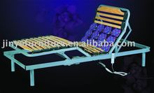 Adjustable steel slatted bed base