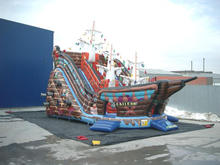 Giant outdoor Inflatable Pirate Ship for kids and adults
