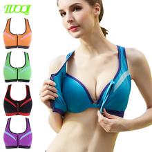 Wholesale Workout Clothing Zipped Mesh Women Sexy Model Gymwear Ladies Sports Bra