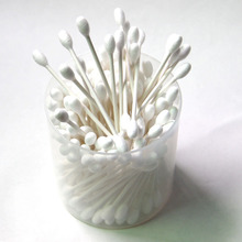 wooden soft earring buds cotton swabs