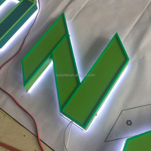 For Outdoor Building Use Reverse Stainless Steel Letter 3D LED Backlit Signage