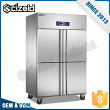 Alibaba Supplier Silver Restaurant Stainless Steel Fridge Freezer