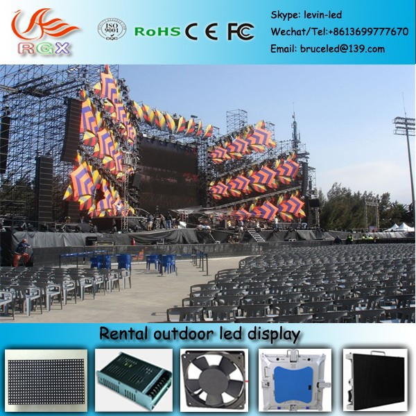 RGX U77 Led commercial advertising display screen p10 Passed CE,RoHS.Outdoor advertising led display screen p10,