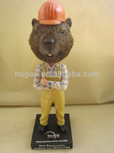 novelty mascot bobble head, custom bobblehead