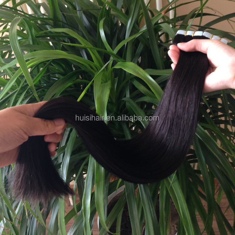 Latest products in market shopping online websites buy goods in alibaba 20inch #1b thick hair ends skin weft