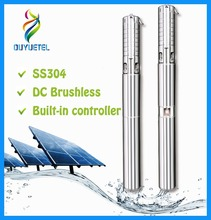 BOTU built-in controller ac dc submersible solar pump electric high pressure water pump