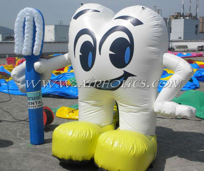 Advertising balloon inflatable tooth with customers' logo printing