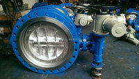 Chinese wholesaler Medium Pressure pneumatic double flange butterfly valve