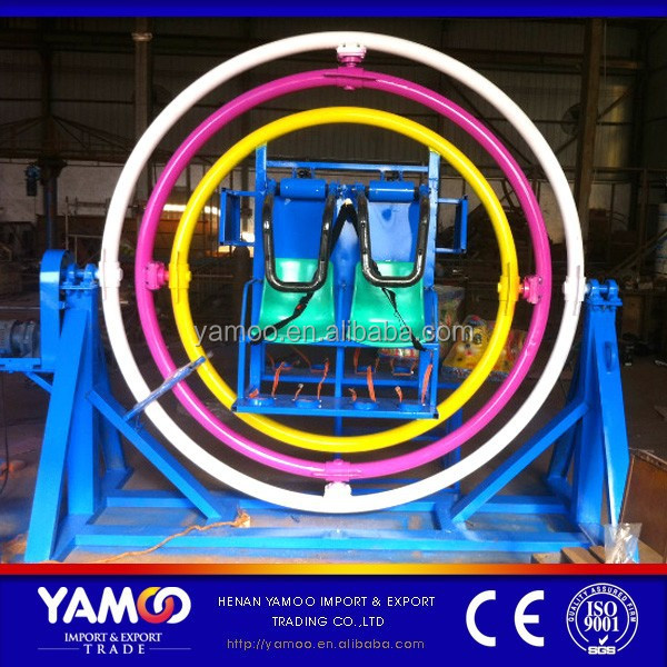 (Yamoo)Popular amusement rides human gyroscope mechanical ride/ human gyro for sale!