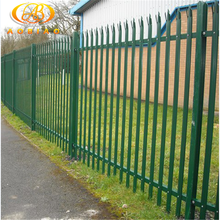Cheap safety galvanized after welding steel palisade fencing