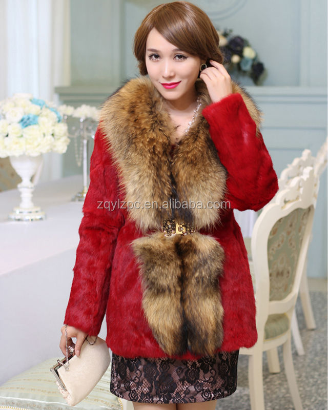 Red Color Girl Animals Rabbit Fur Coat Sex From China Alibaba