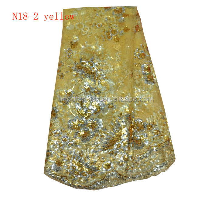 golden yellow french net lace 2015 african net lace fabric