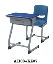 Superior Plastic School Furniture Student Table And Chair Set H03+KZ07