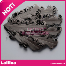 Hot Sell Dyed Grey Feather Pad For Headband Hair Accessories Clips Fascinator Wedding