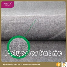 Make to order woven plain style 50D polyester 4 way stretched fabric for ladies garment