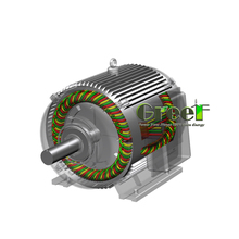 40KW 500RPM Low speed / Manufacturers Custom-made / Nd-Fe-B Permanent Magnet Motor