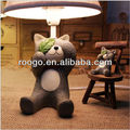 Zakka cat figurine table lamps for living room table lamp craft home decoration