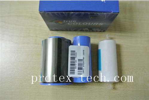 Zebra compatible ribbon 800015-440 with YMCKO with cleaning roller 200 images for printer