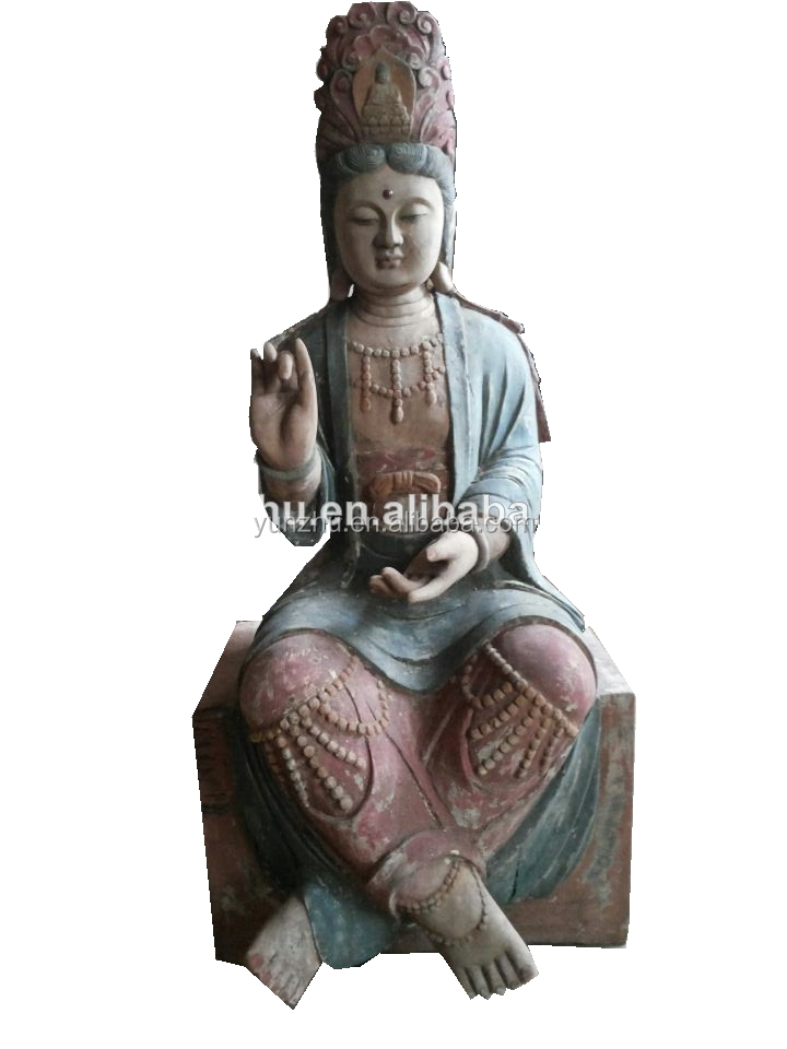 Hand Carved wooden buddha carving