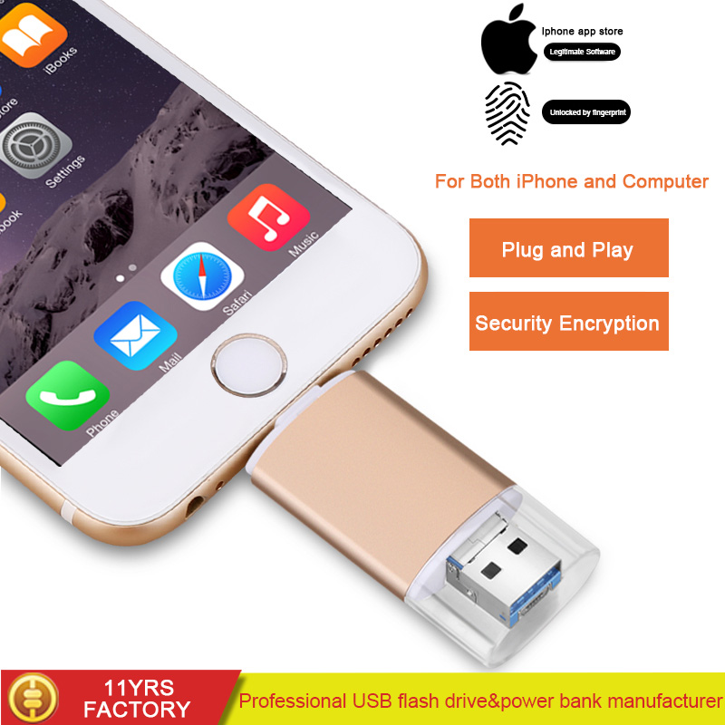 2018 High Quality New Product metal usb <strong>flash</strong> drive32GB B For iPhone android