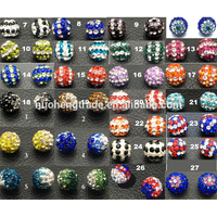 Custom Wholesale Stripe Shamballa Ball Beads for Shamballa Jewelry making