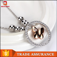 latest products graceful fashion design white gold necklace jewelry in malaysia with competitive price