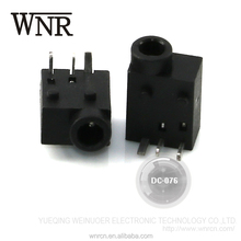 Factory direct sale female metal charge DC power jack, 3 pin power socket DC-076