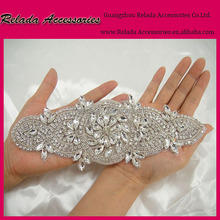 Cheap wholesale handmade beads embroidery designs sequin jacket trims and appliques with stone for wedding decoration materials