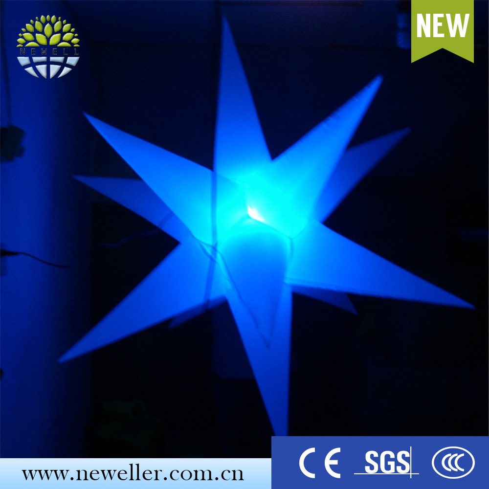 Costume inflatable wedding attractions gold inflatable star with SGS