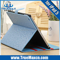New design leather case for iPad air, for ipad air flip case with best price