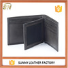 Natural tumble leather bifold famous brand wallet