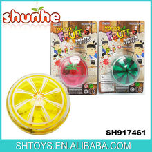 Wholesale Fruit yoyo ball with led light Factory yoyo Plastic led yoyo