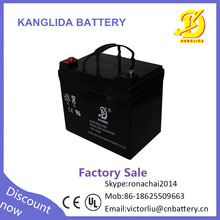 Factory direct sale 12v 33ah agm dry batteries for ups